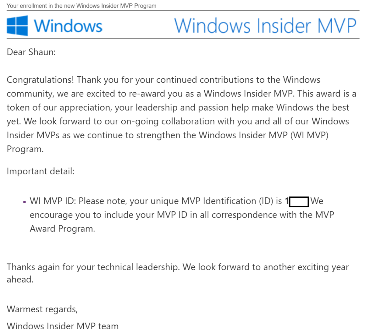 Windows Insider MVP: 2018